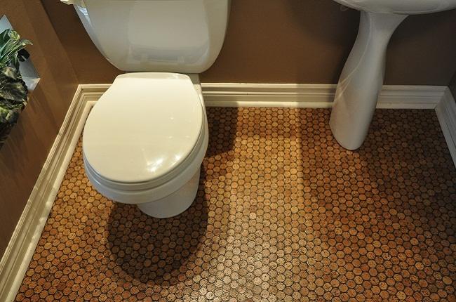 Cork in bathroom